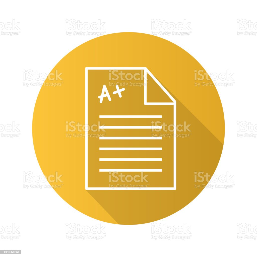 Test paper with excellent mark royalty-free test paper with excellent mark stock vector art & more images of backpack