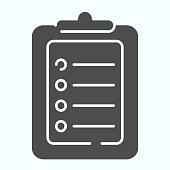 Test solid icon. Document with pointers vector illustration isolated on white. Checklist glyph style design, designed for web and app. Eps 10