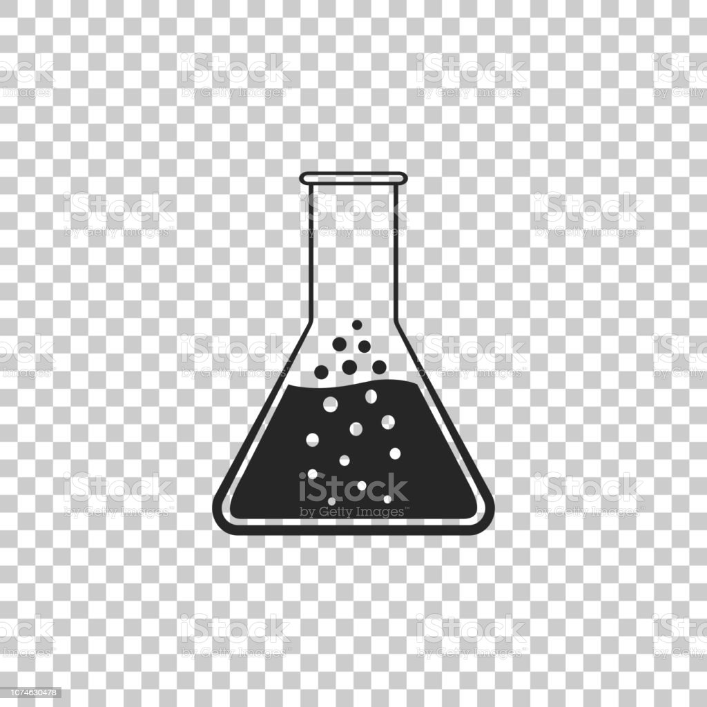 Test tube and flask - chemical laboratory test icon isolated on...