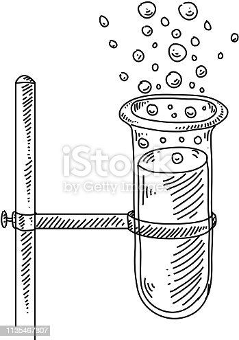 Line drawing of Test tube. Elements are grouped.contains eps10 and high resolution jpeg.