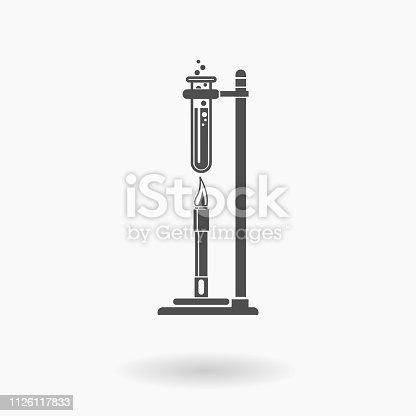 Science experiment apparatus symbols.