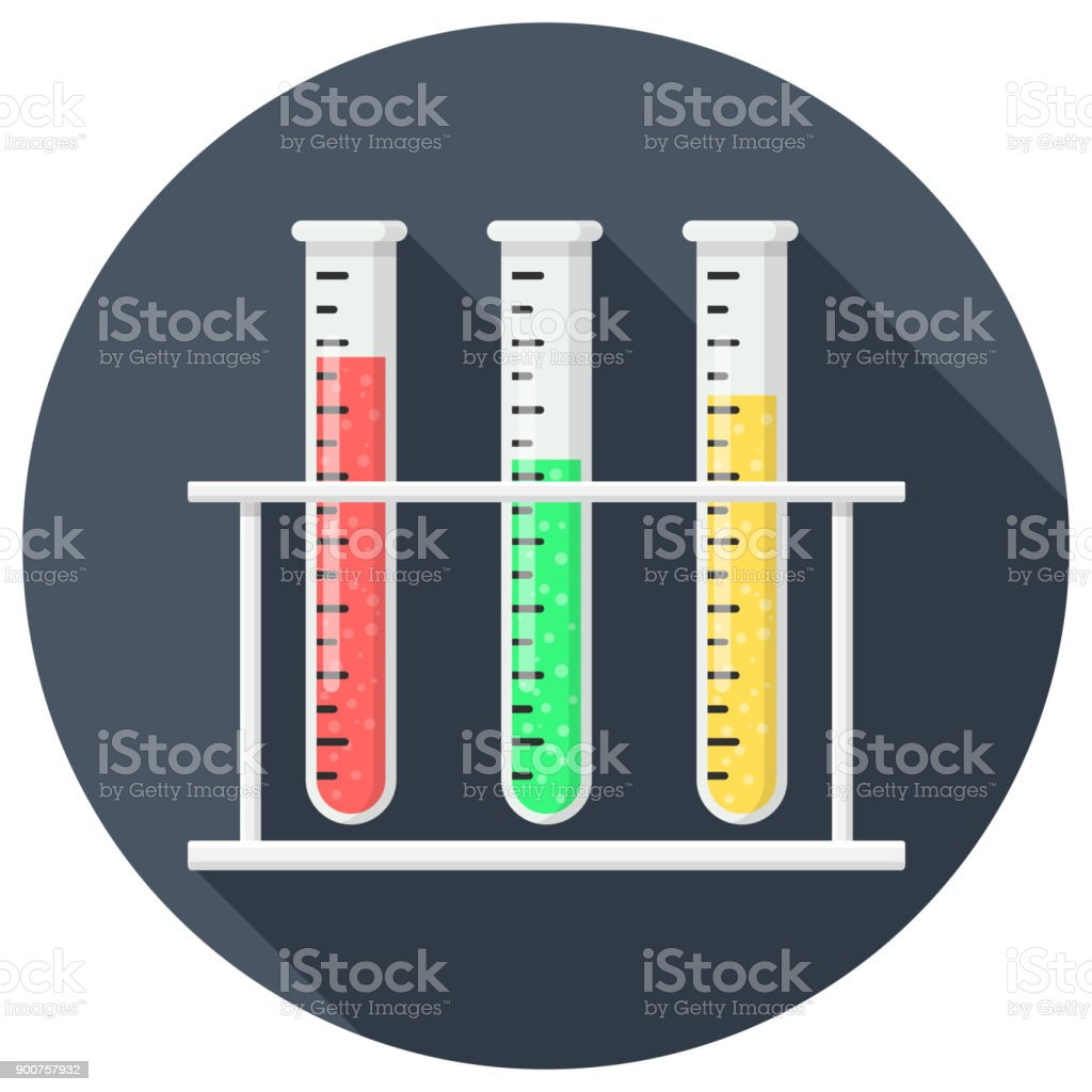 test tube Flat Designq vector art illustration
