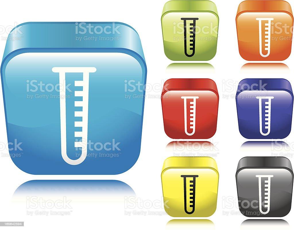 Test Tube Icon vector art illustration