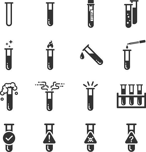 test tube symbole - chemikalie stock-grafiken, -clipart, -cartoons und -symbole