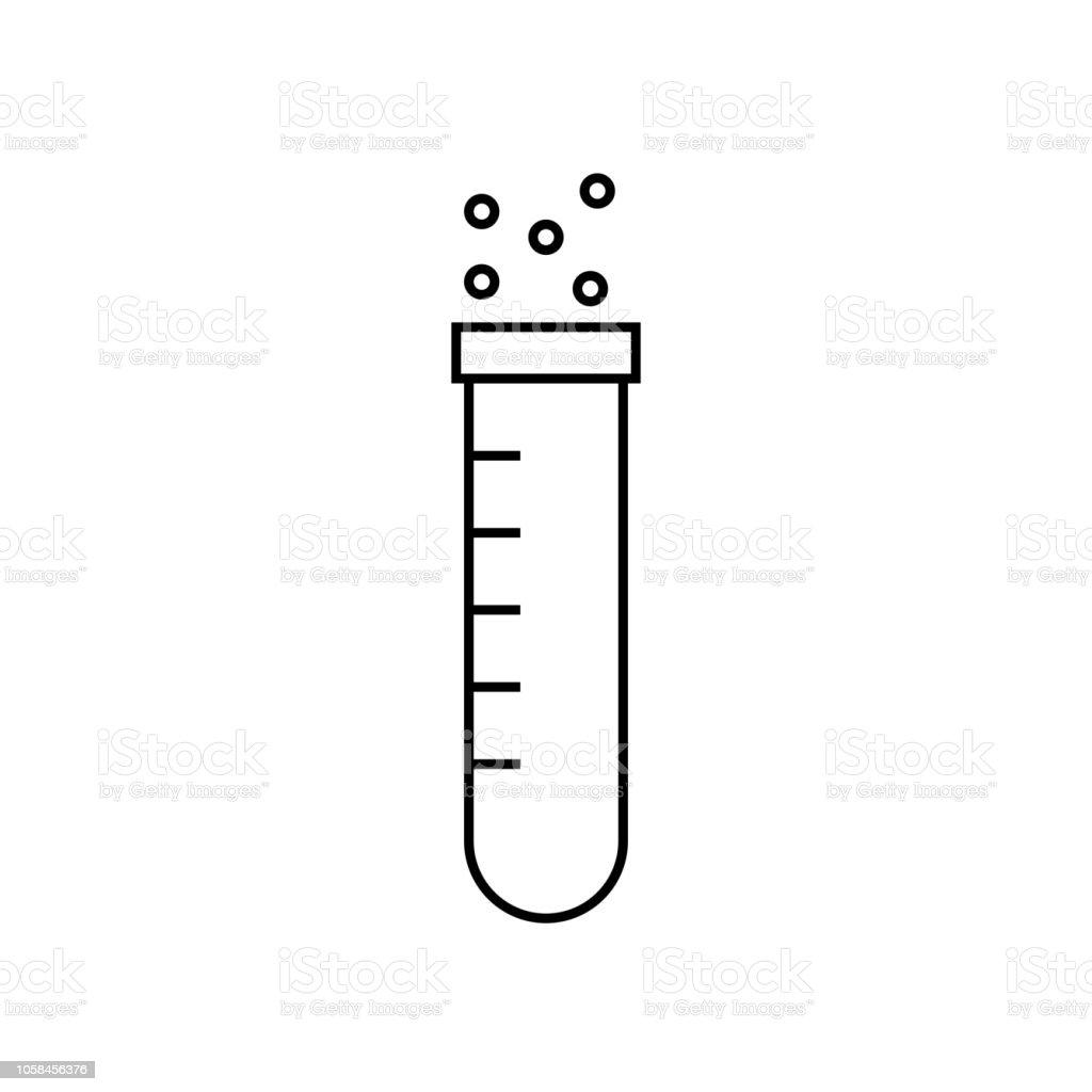 Reagenzglas Vektorillustration Für Logos Aufkleber Etiketten