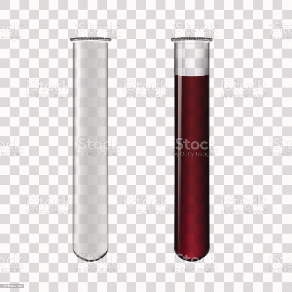 Test Tubes Filled With Blood vector art illustration