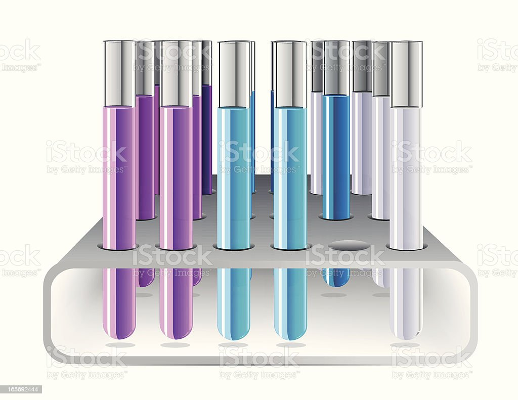 Test Tubes Isolated on White royalty-free stock vector art