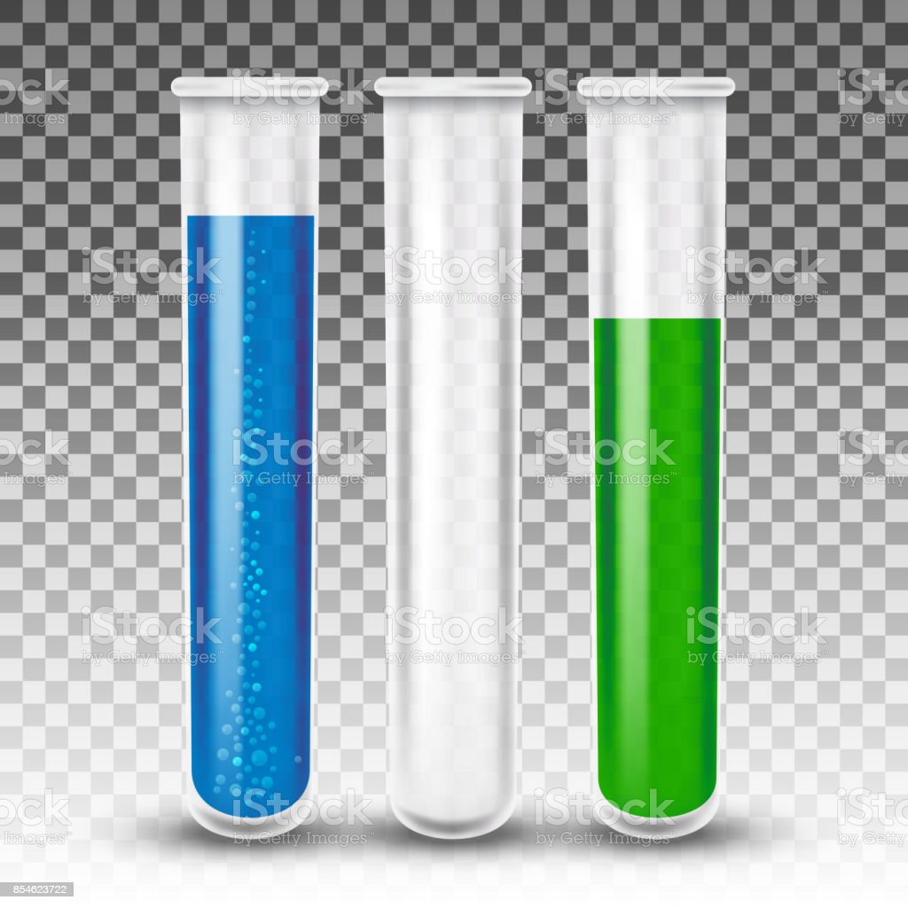 Test tubes realistic vector vector art illustration