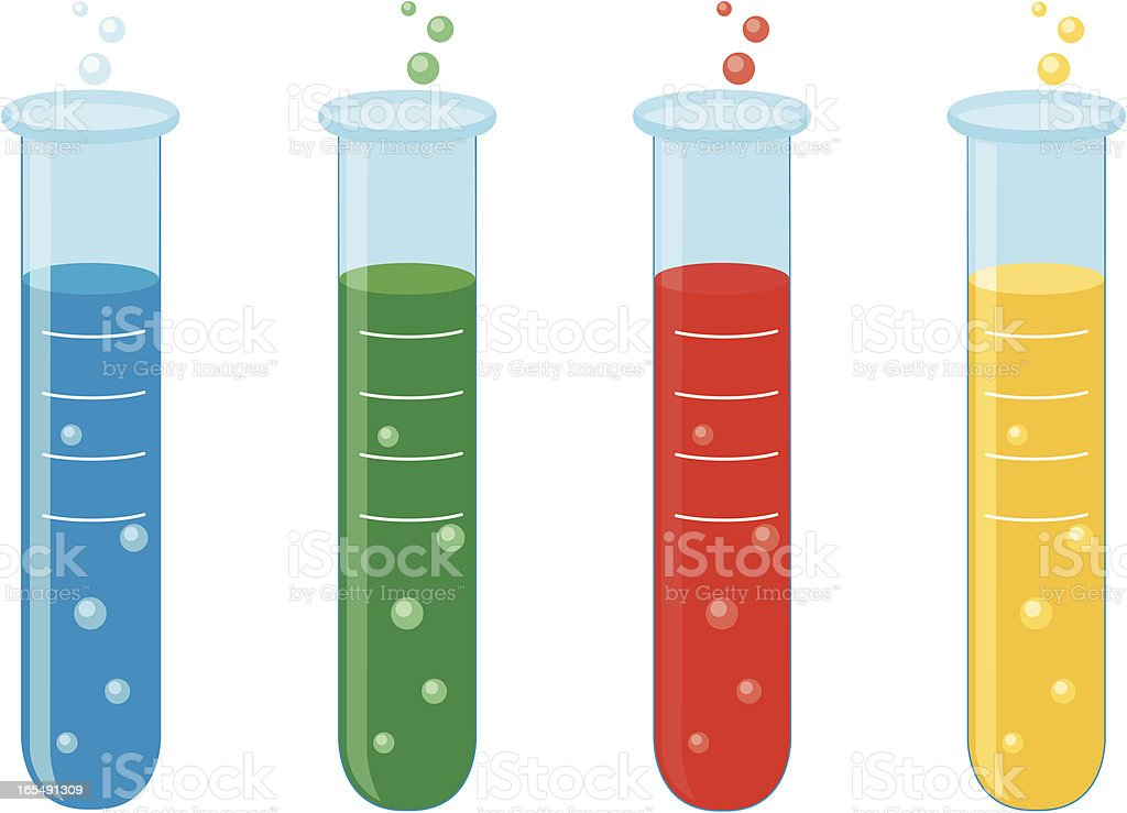 Test Tubes royalty-free stock vector art