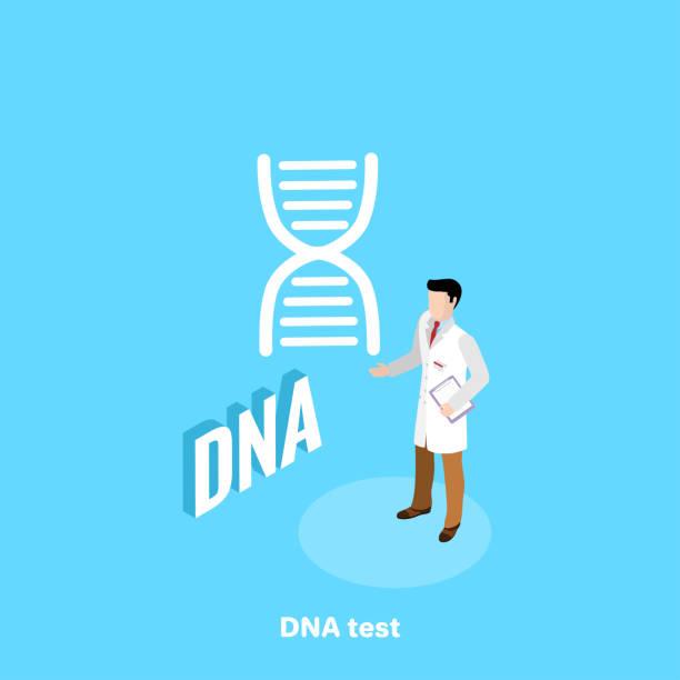 DNA test vector art illustration