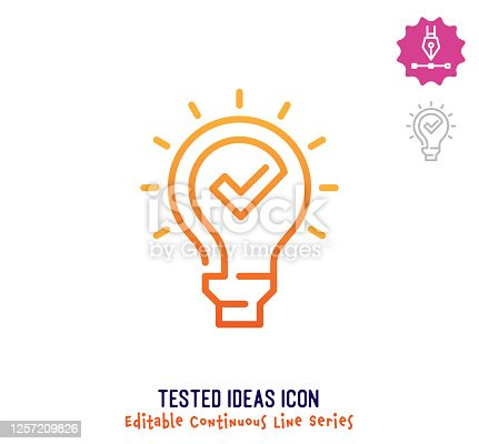 istock Tested Ideas Continuous Line Editable Stroke Line 1257209826