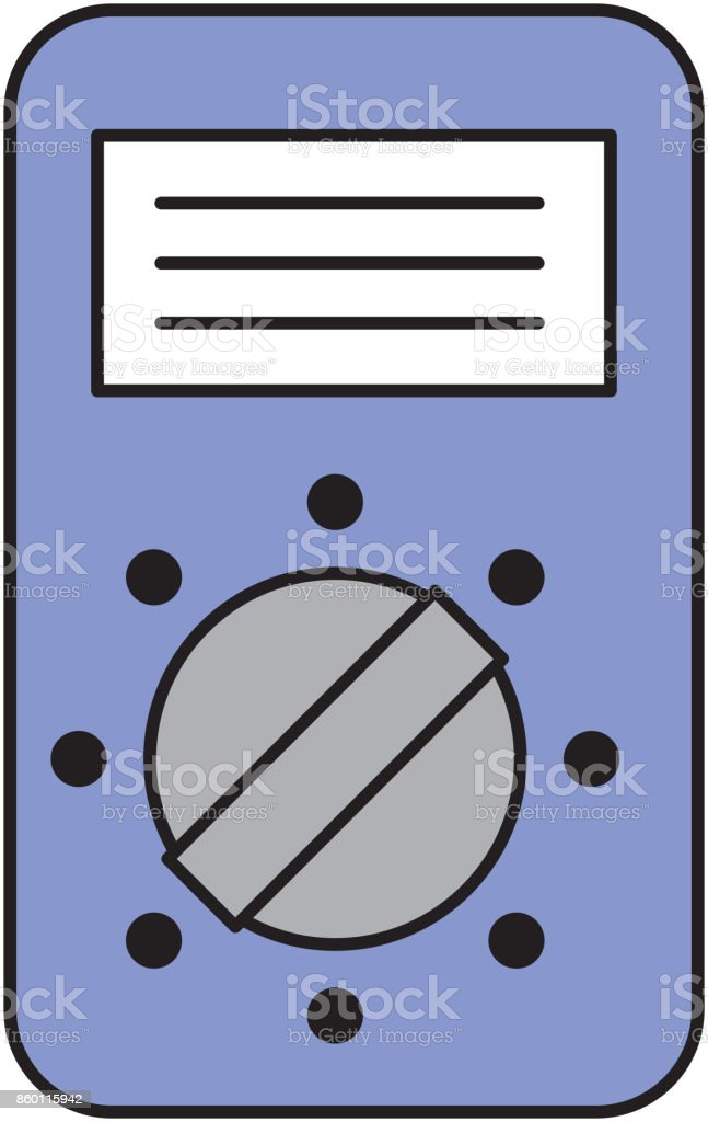 tester device electricity measuring icon vector art illustration