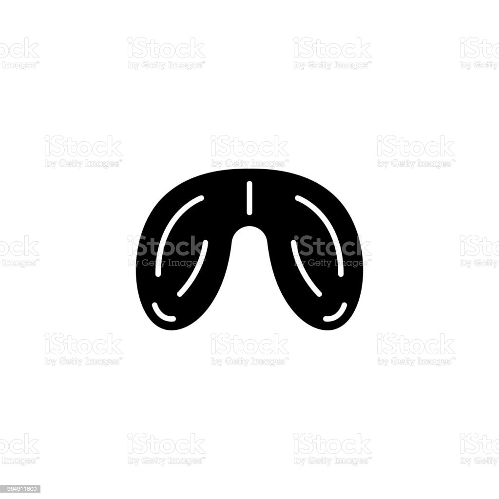 Testicles black icon concept. Testicles flat  vector symbol, sign, illustration. royalty-free testicles black icon concept testicles flat vector symbol sign illustration stock illustration - download image now