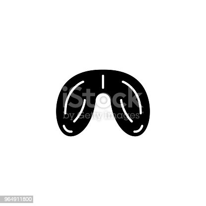 Testicles Black Icon Concept Testicles Flat Vector Symbol Sign Illustration Stock Vector Art & More Images of Anatomy 964911800
