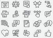 istock Testimonial and Support Line Icons 1128166844