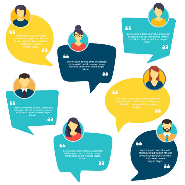 Testimonial Speech bubble concept, customer feedback for info graphic, application and website. Creative testimonials template with different shapes. Vector illustration. Testimonial Speech bubble concept, customer feedback for info graphic, application and website. Creative testimonials template with different shapes. Vector illustration. speech bubble stock illustrations