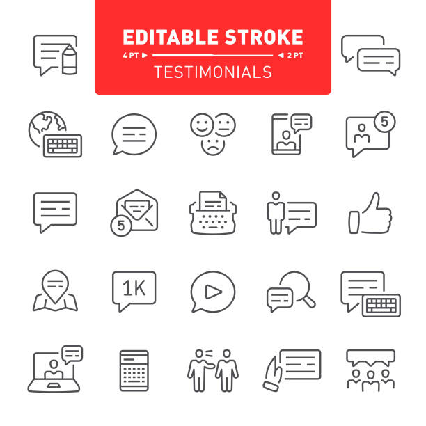 ilustrações de stock, clip art, desenhos animados e ícones de testimonials icons - video call