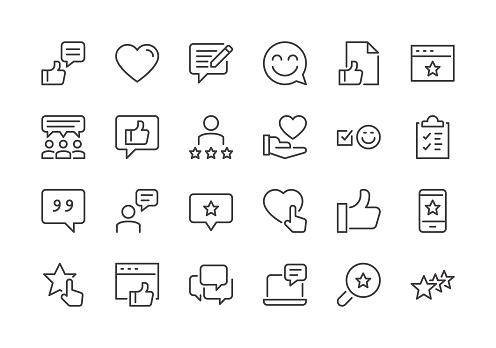 Testimonials - Regular Line Icons clipart