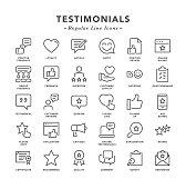 Testimonials - Regular Line Icons