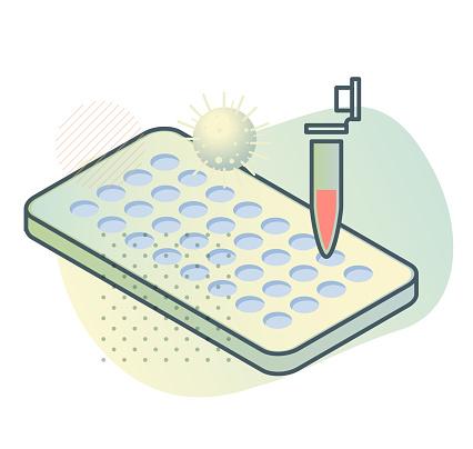 PCR Testing - Lab Apparatus - Illustration