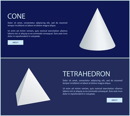 Tetrahedron and Triangular Prism Geometric Figures