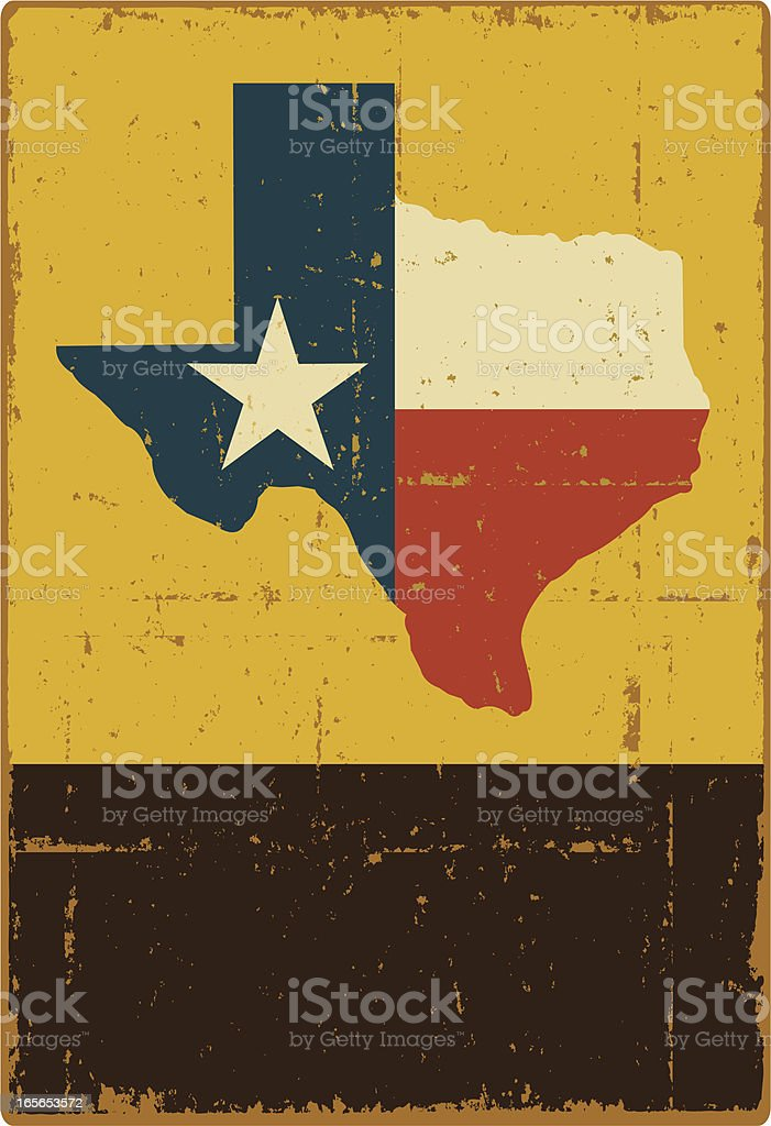 Texas Banner vector art illustration