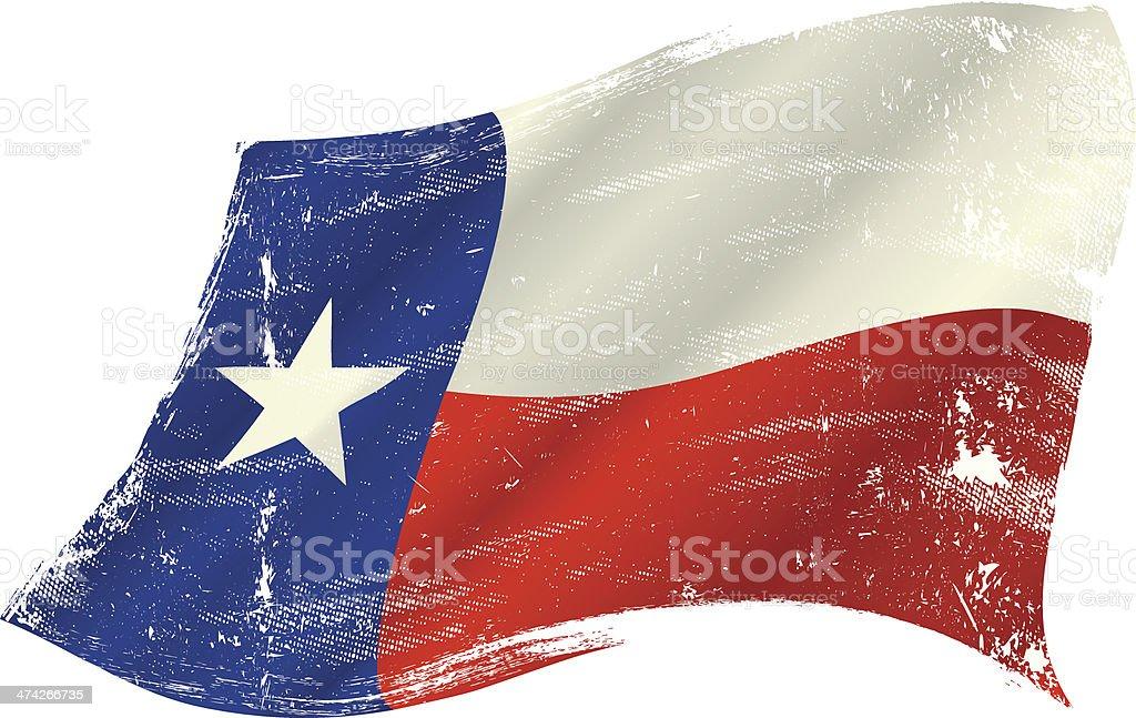 Texas flag grunge vector art illustration