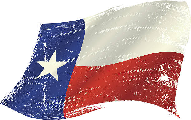 Texas Flag Grunge Vector Art Illustration