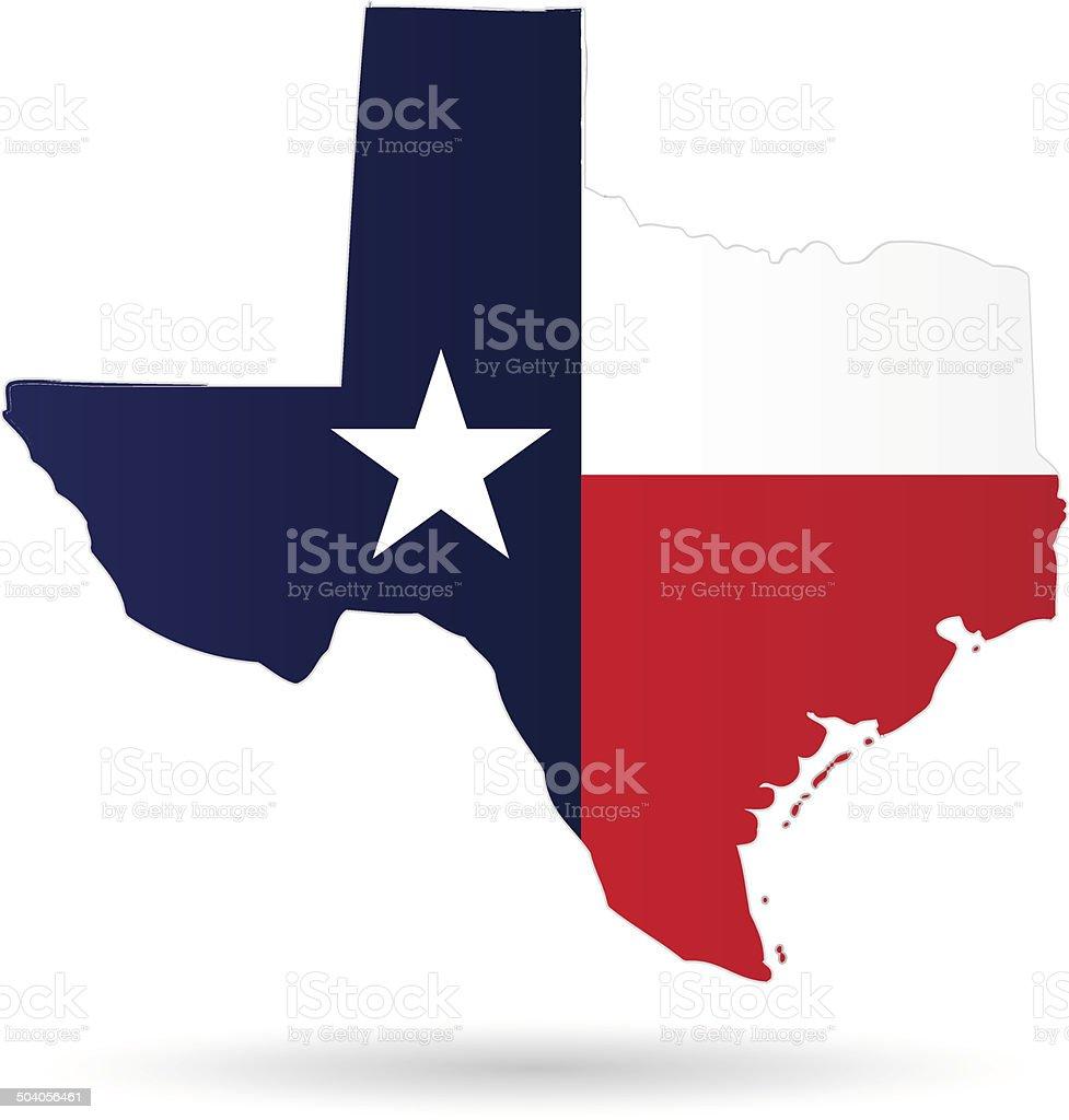 texas flag vector art illustration