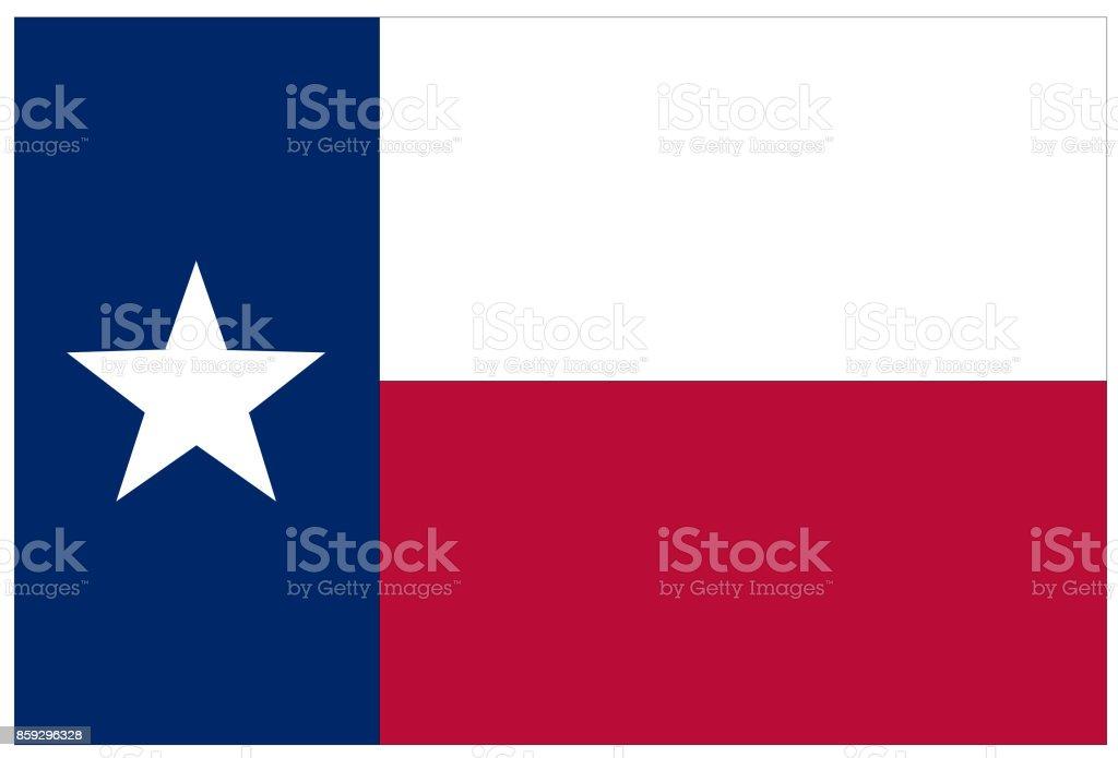 Bandeira do Texas - ilustração de arte em vetor