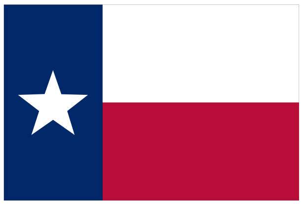 Texas Flag Vector Art Illustration