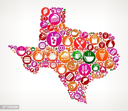 istock Texas Food and Diet Vector Icon Background 977599066