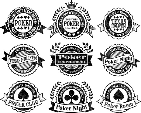 Texas Hold'Em Poker Chips cards and gambling vector graphics