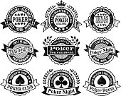 Texas Hold'Em Poker Chips cards and gambling vector graphics black and white royalty free vector interface icon set. This editable vector file features black interface icons on white Background. The interface icons are organized in rows and can be used as app interface icons, online as internet web buttons, and in digital and print.