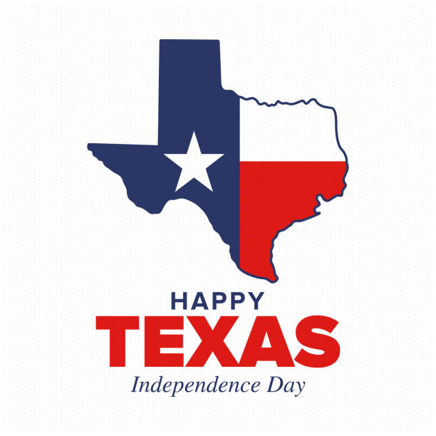 Texas Independence Day. Freedom holiday in Unites States, celebrated annual in March. Lone star flag. Texas flag. Patriotic sign and elements. Poster, card, banner and background. Vector illustration vector art illustration