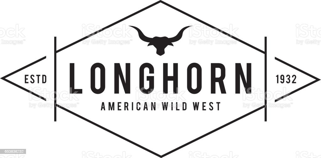 Texas Longhorns Retro Styled, Texas Wild West Theme