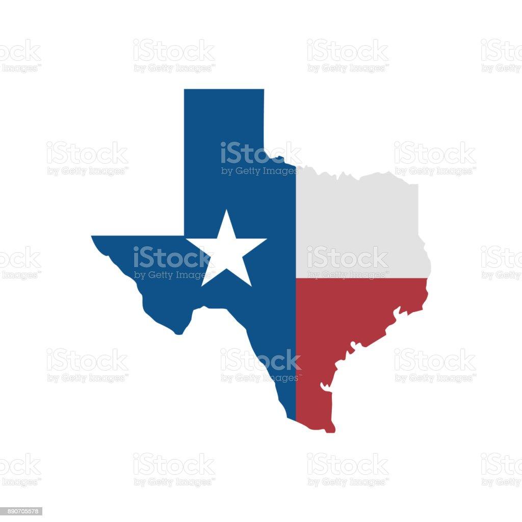 Icono de mapa de Texas. Ilustración de vector - ilustración de arte vectorial