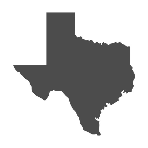 Texas map icon. vector Texas shape isolated on white background. Vector illustration texas stock illustrations