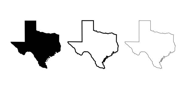 Texas Map vector icon. Symbol for web site Texas Map vector icon. Symbol for web site texas stock illustrations