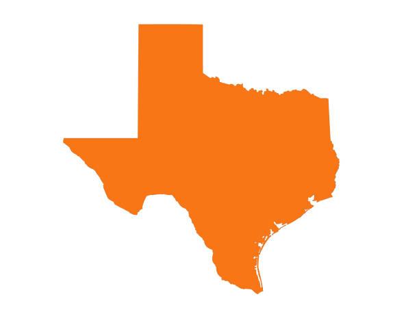 Texas map vector illustration of Texas map texas stock illustrations