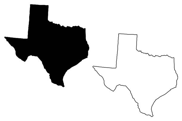 Vecteur de carte : Texas - Illustration vectorielle