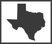 Texas outline vector map cartography