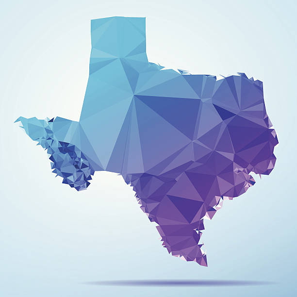 Texas Polygon Triangle Map Blue Abstract Polygon Triangle vector map of Texas, USA. File was created in DMesh Pro and Adobe Illustrator on May 21, 2014. The colors in the .eps-file are in RGB. Transparencies used. Included files are EPS (v10) and Hi-Res JPG (5035 x 5035 px). map crystal stock illustrations