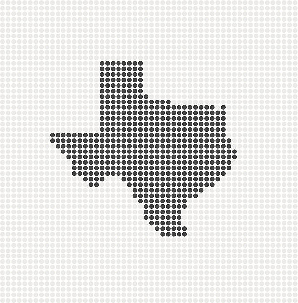 Texas Pop State ( VECTOR ) Made with circles. Grouped for easy color change. svg stock illustrations
