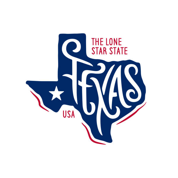 Texas related t-shirt design. The lone star state. Vintage vector illustration. Texas related t-shirt design. The lone star state. Colored concept on black background. Vintage vector illustration. texas stock illustrations