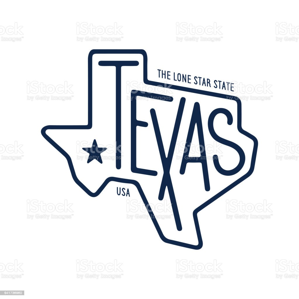 Texas Related Tshirt Design The Lone Star State Vintage Vector