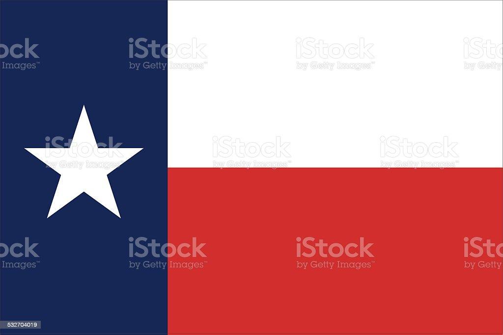 Bandeira do estado do Texas - ilustração de arte em vetor