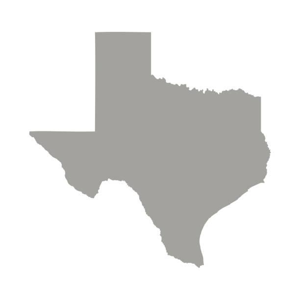 Texas state map vector Texas state map vector texas stock illustrations