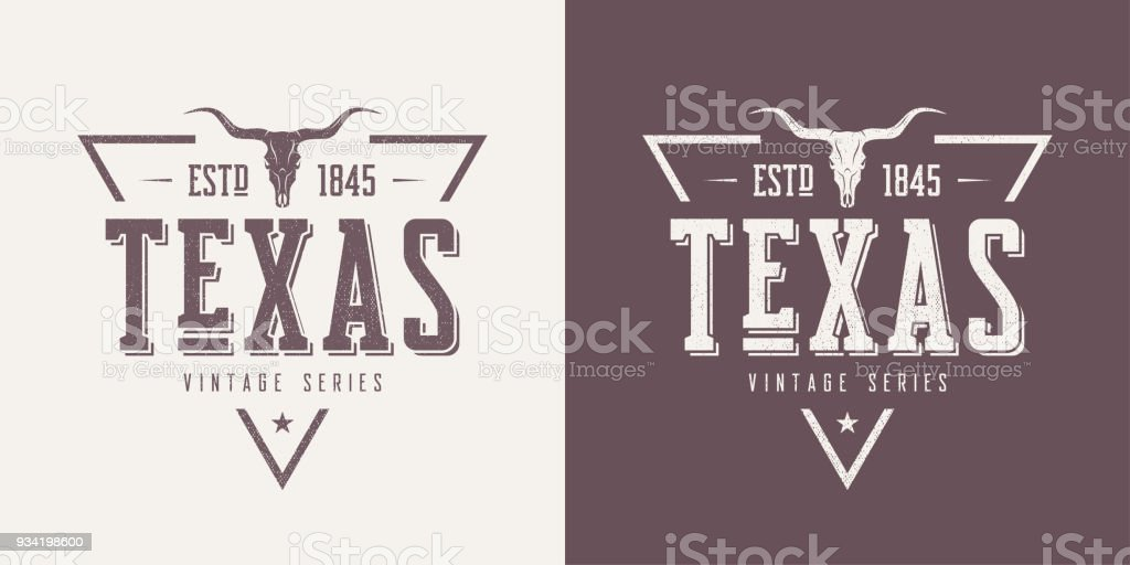 Texas State Textured Vintage Vector Tshirt And Apparel Design