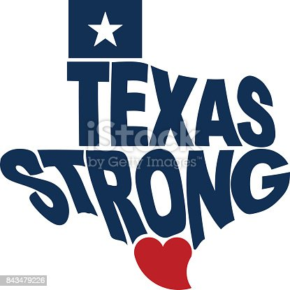 Texas Strong Map Logo Flat Design Stock Vector Art Amp More